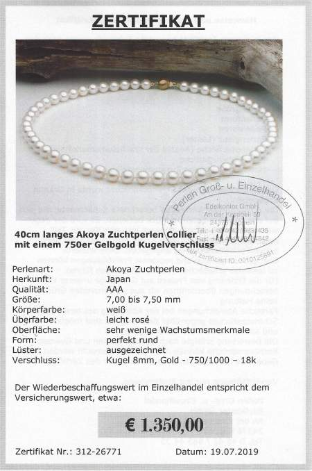 Pearl Necklace white at SelecTraders
