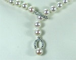 Y-Pearl necklace<br>Pearl Size<br>7.0 - 7.5 mm