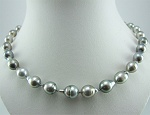 green silver baroque pearl necklace